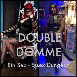 I will be holding double Domme sessions with Miss Anne Tittou on the 8th September at @EssexDungeon Enquire via email serveme@mistresslorraine.com