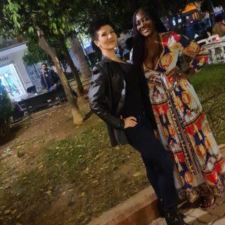 Had a lovely evening with @domina__alexandra ♥️